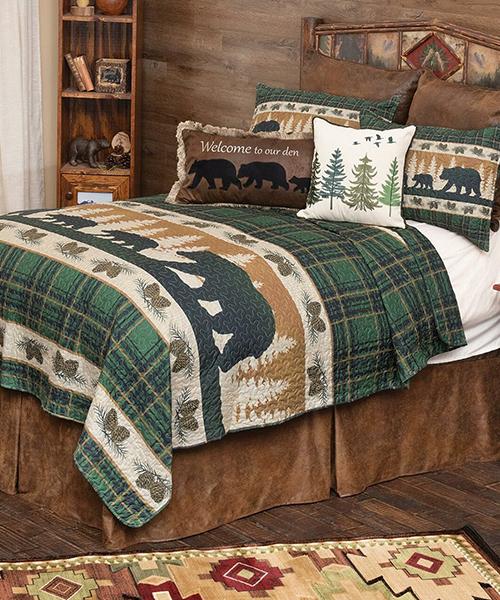 Bear Adventure Cabin Bedding