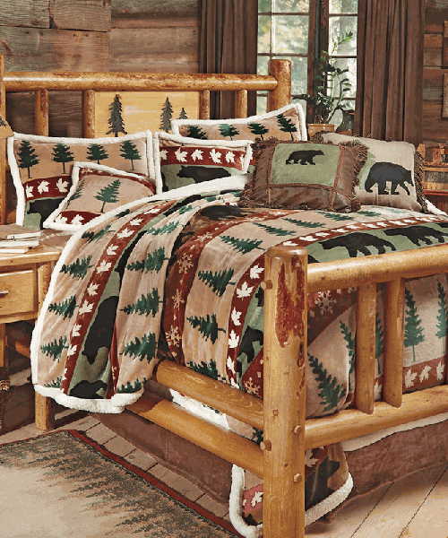 Rustic Bedding Set Black Bear