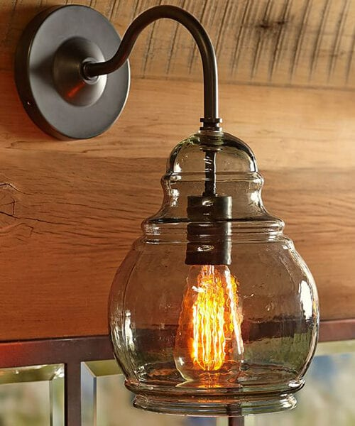 Glass Wall Sconce