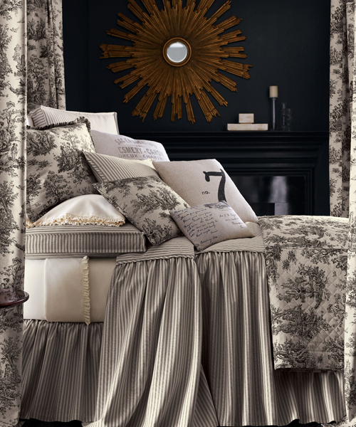 Legacy Queen Toile Bedding