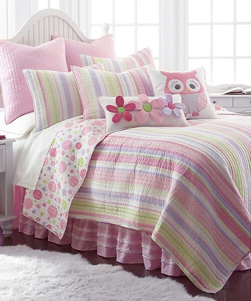 Girls Stripe Quilt | Levtex Adalyn Quilt Set