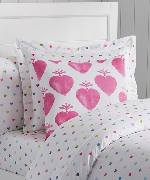 Girls Heart Bedding