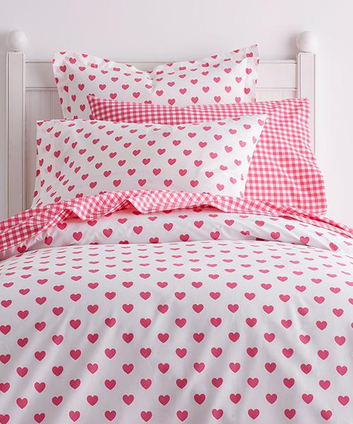 Kids Heart Bedding