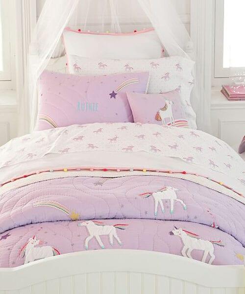 Rainbow Unicorn Bedding