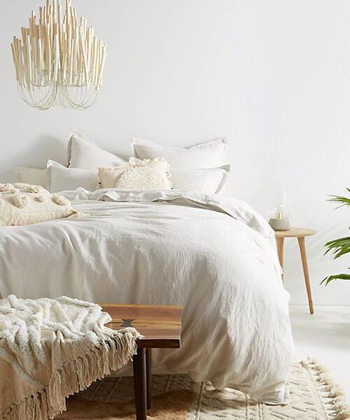 Relaxed Linen Neutral Duvet Cover