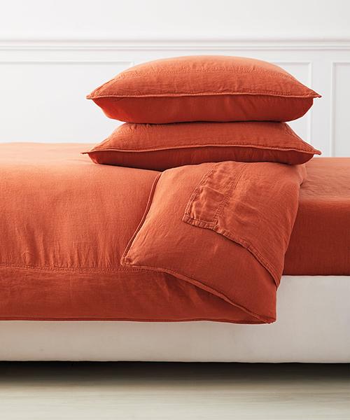 Orange Duvet Cover | Terracotta Colored Bedding