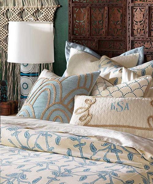 Luxury Blue Bedding   Eastern Accents Badu Bedding