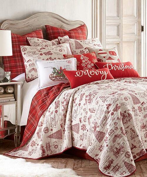 Levtex Home Yuletide Christmas Bedding Quilt