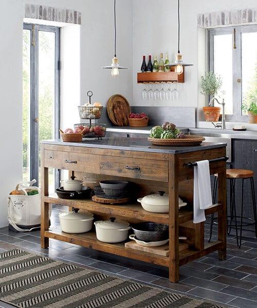 Reclaimed Wood Kitchen Island | Rustic Kitchen