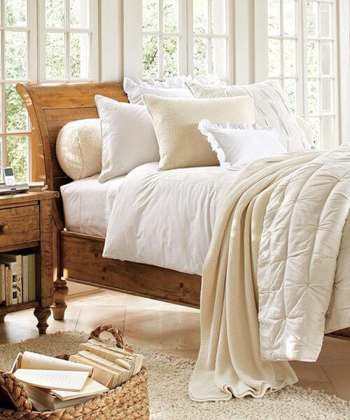 Ashby Rustic Sleigh Bed
