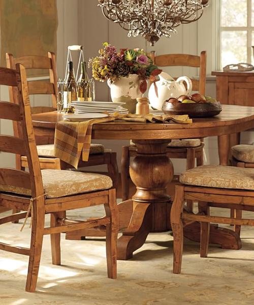 Sumnar Rustic Pedestal Table