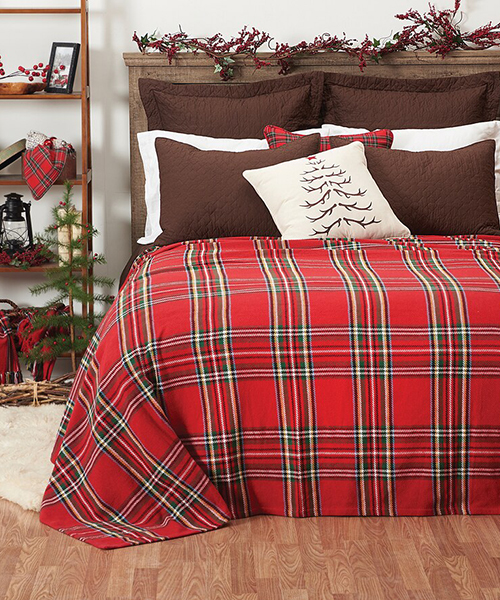 Arlington Plaid Christmas Quilt