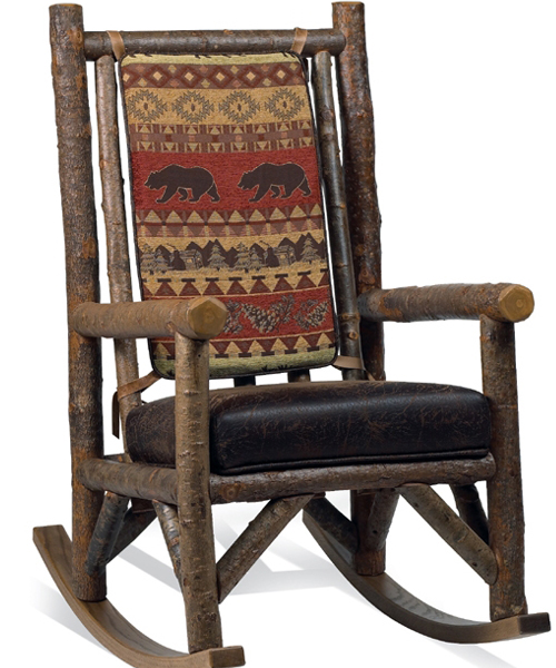 Bear Creek Rustic Rocking Chair