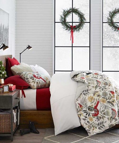 Jolly Bird Christmas Bedding