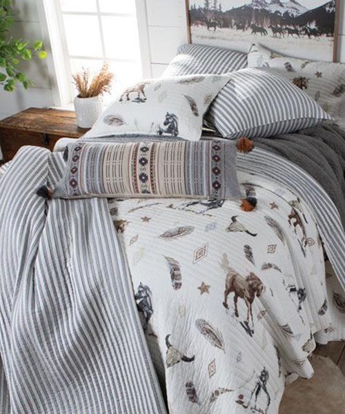 Western Stripes Quilt Bedding