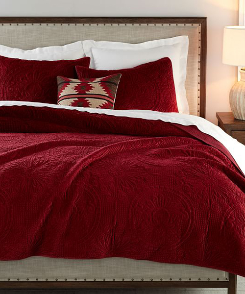 Red Velvet Medallion Bedding