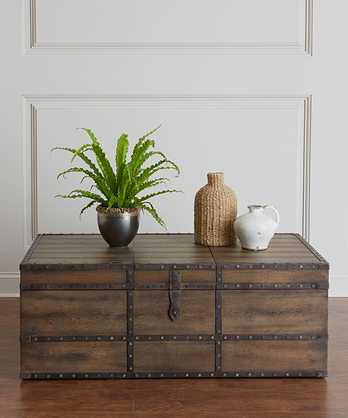 Casell Rustic Trunk Style Coffee Table