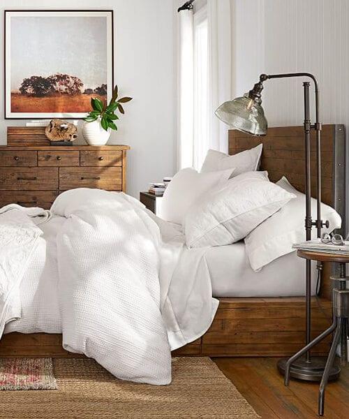 Antiqued Reclaimed Wood Bed | Reclaimed Bedroom Furniture