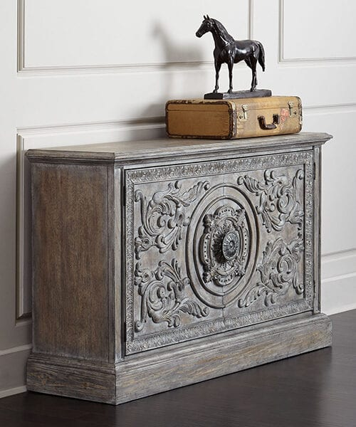 Adrian Distressed Vintage Cabinet