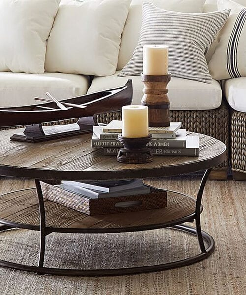 Bartlett Round Reclaimed Wood Coffee Table