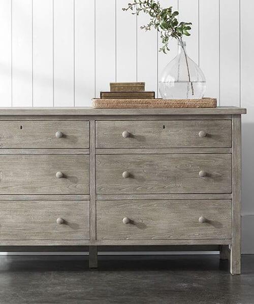 Farmhouse Extra Wide Dresser | Farmhouse Bedroom Furniture
