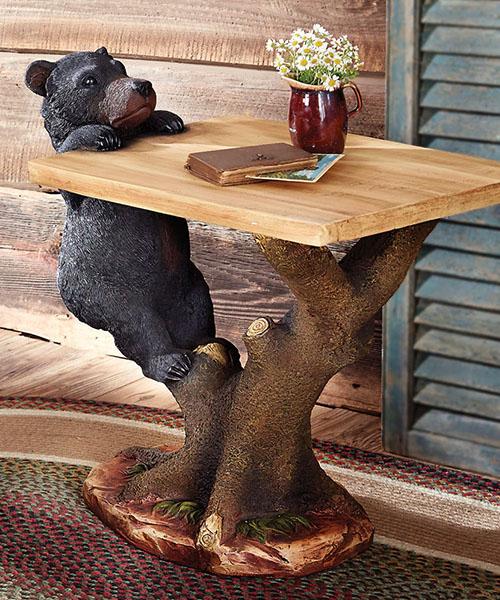 Black Bear Accent Table