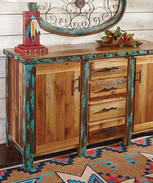 Azul Barnwood Buffet/Cabinet   Western Dining Room Furniture