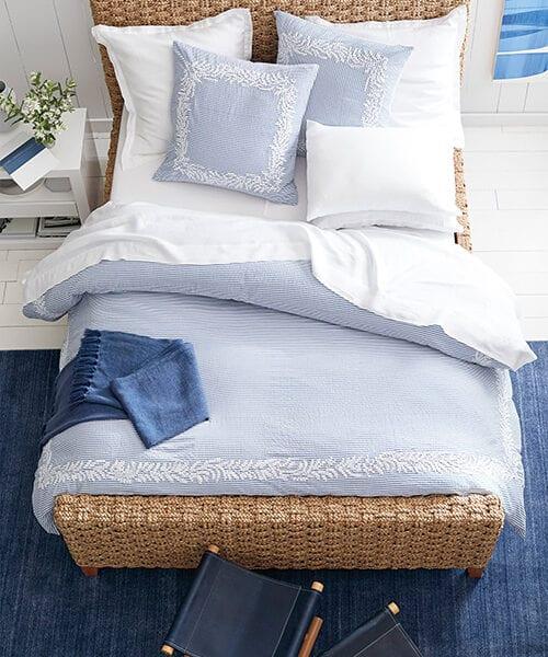 Westport Coastal Blue Duvet Cover | Coastal Bedding Sets