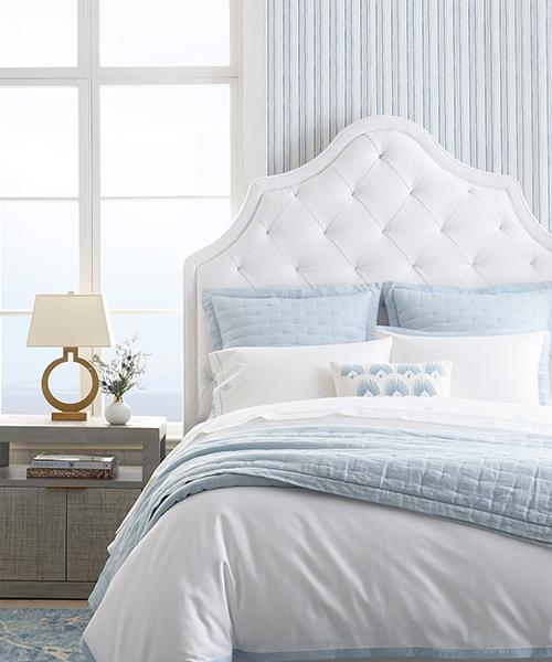 Border Frame Blue and White Duvet Cover
