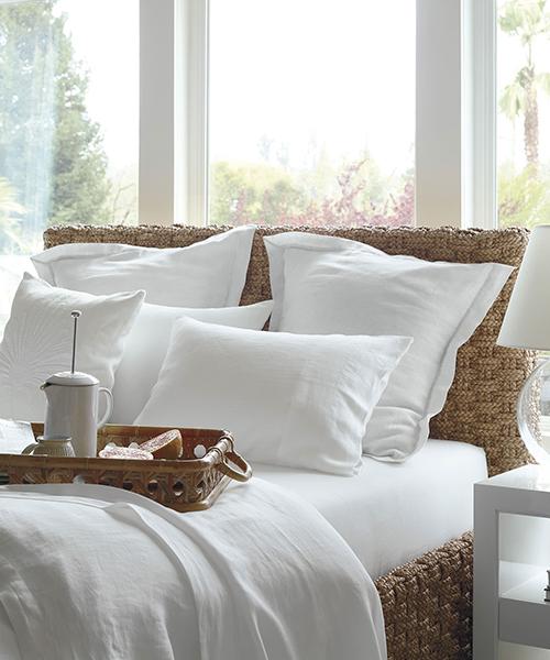Cavallo White Duvet Cover   Linen Duvet Covers