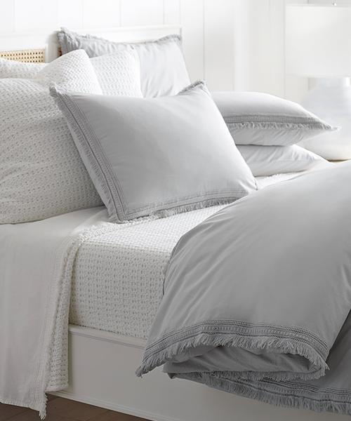 Fog Gray Bedding   Solana Duvet Cover in Gray