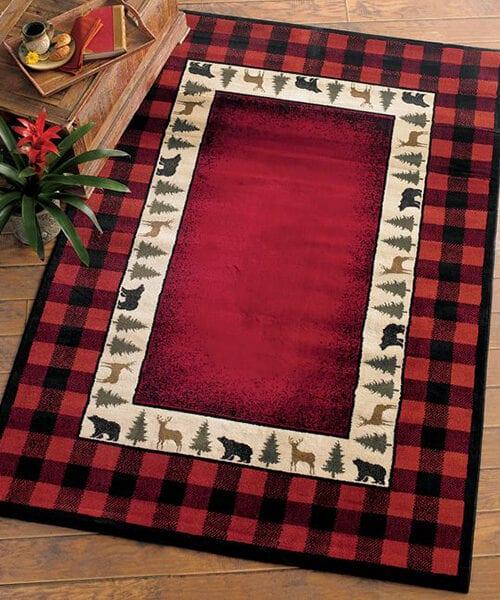 Rustic Buffalo Check Rug | Rustic, Southwestern & Lodge Rugs