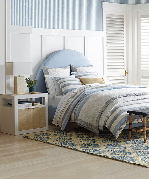 Seabright Blue and Gray Bedding