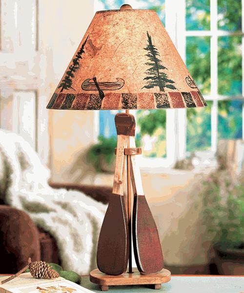 Canoe Paddle Table Lamp