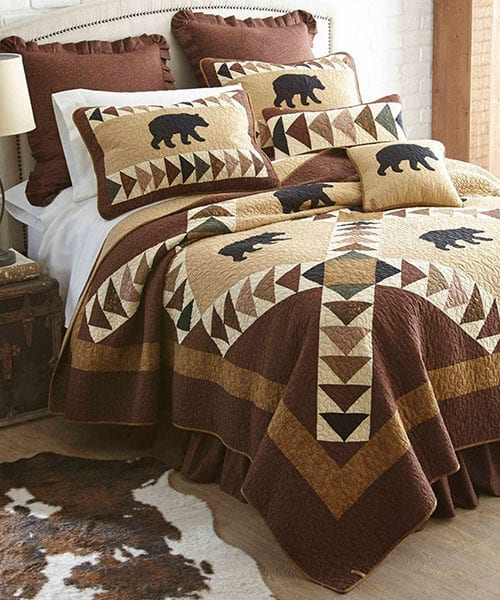 Rustic Bear Quilt | Wildlife Quilt Collections