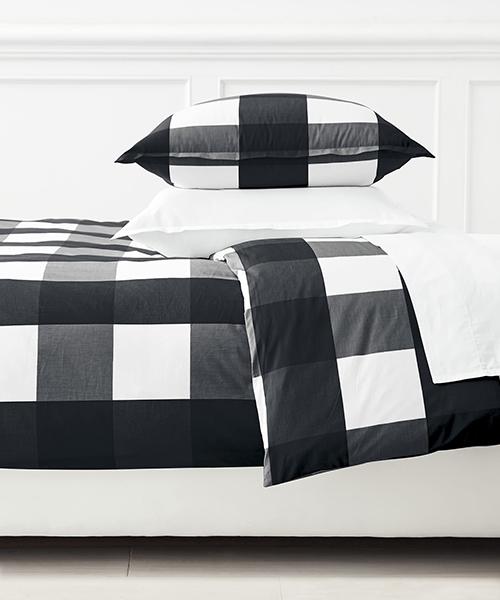 Black and White Gingham Bedding | Black and White Bedding
