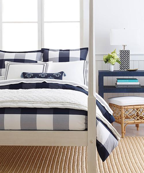 Navy Blue Gingham Bedding | Gingham Duvet Covers