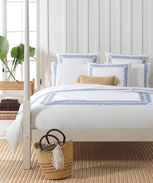 Olympia Cotton Percale Duvet Cover