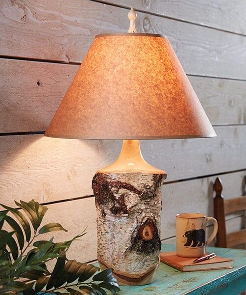 Rustic Birch Lamp | Lodge Lighting