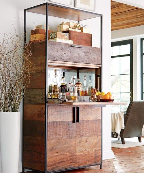 Reclaimed Wood Bar Cabinet