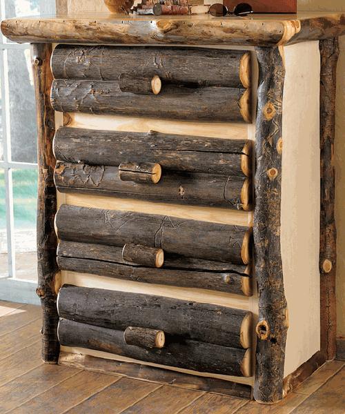 Aspen Log Chest of Drawers
