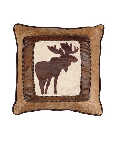 Chocolate Brown Moose Pillow