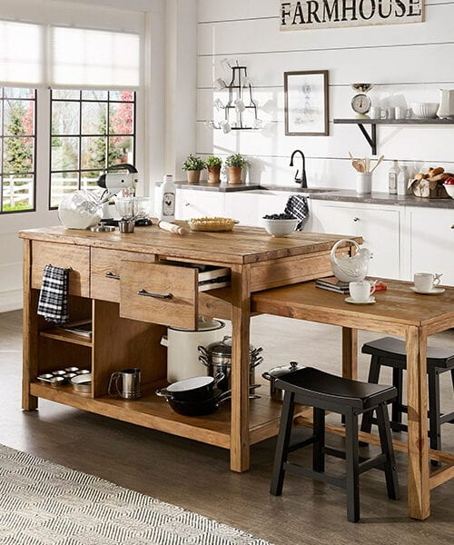 Reclaimed Wood Large Kitchen Island
