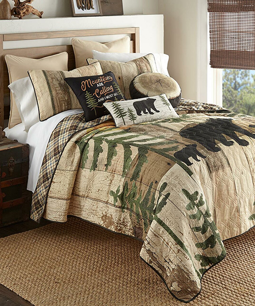 Sunset Bears Quilt Bedding