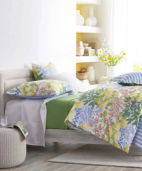 Awning Floral Percale Duvet Cover