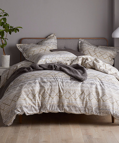 Diamond Grid Duvet Cover Earth Tone, Earth Tone Bedding Collections
