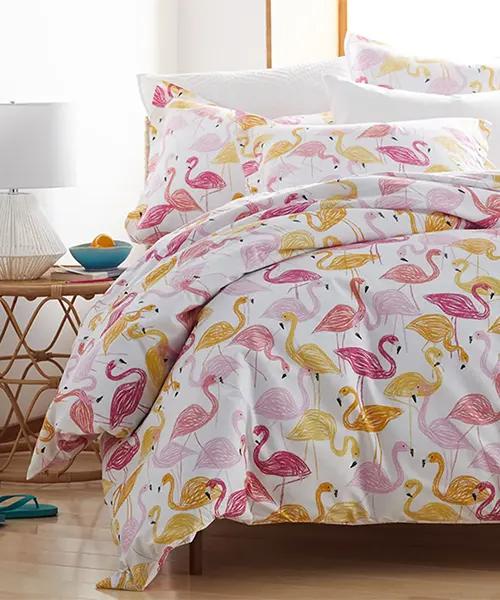 Flamingos Tropical Duvet Cover