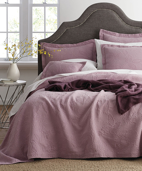 Lilac Cotton Coverlet Blanket