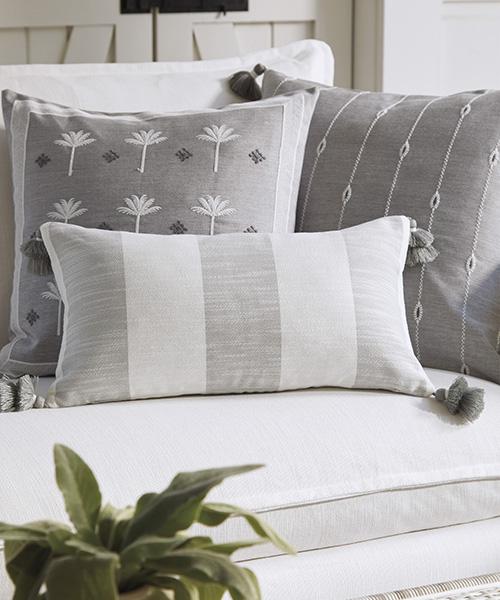 Outdoor Grey Coastal Pillow Cover