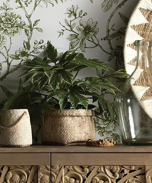 Rustic Woven Planter